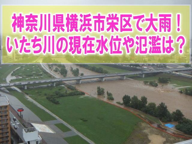 いたち川の現在水位や氾濫状況をライブカメラ確認と神奈川県横浜市栄区の避難場所情報