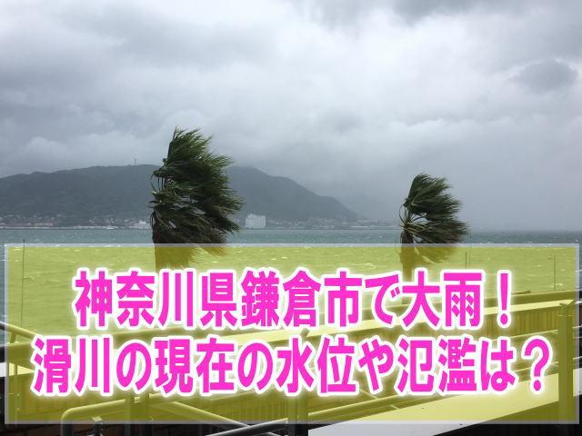 滑川(神奈川県鎌倉市)の現在の水位と氾濫状況をライブカメラからリアルタイム確認