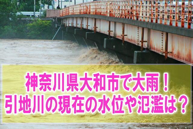 引地川(神奈川県大和市)の現在の水位と氾濫状況をライブカメラからリアルタイム確認