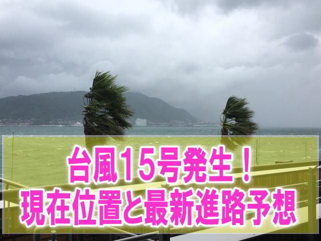 台風15号2019最新進路予想!関東東京にいつ上陸?現在地と米軍、ヨーロッパ情報
