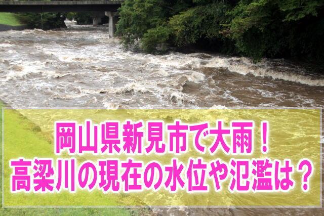 高梁川(岡山県新見市)の現在の水位と氾濫状況をライブカメラからリアルタイムで確認