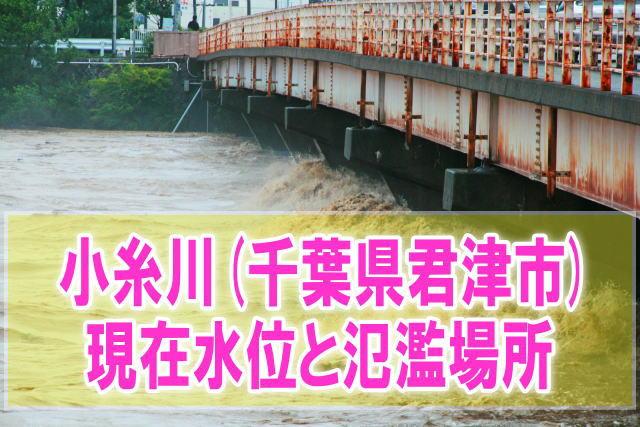 小糸川(千葉県君津市)の氾濫場所や現在水位をライブカメラ確認とハザードマップ、避難所
