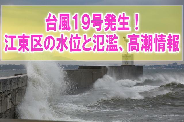 江東区の現在水位や氾濫状況、高潮被害をライブカメラ確認とハザードマップ情報