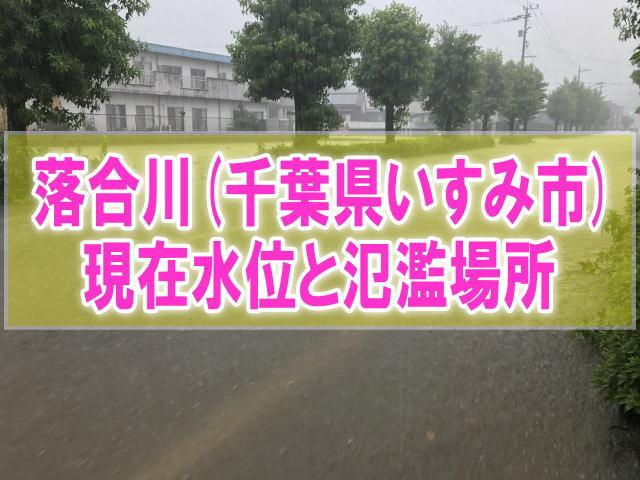 落合川(千葉県いすみ市)の氾濫場所や現在水位をライブカメラ確認とハザードマップ、避難所