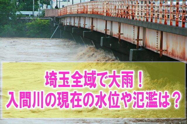 入間川(都幾川)の氾濫場所や現在水位をライブカメラ確認とハザードマップ、避難所
